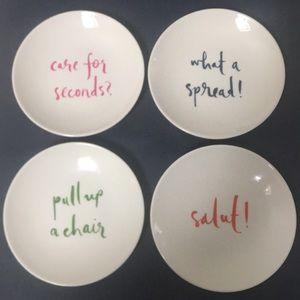 Kate Spade Appetizer Plates
